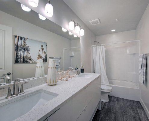 1000 on 5th Townhomes Unit Bathroom